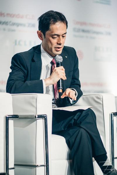 プレナリーセッション7 「パートナーシップによる推進」京都市副市長 植村 哲